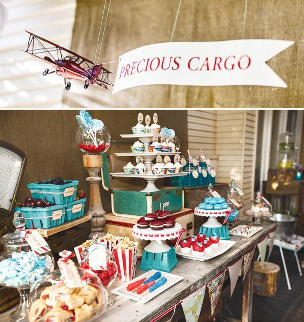 airplane-baby-shower-dessert-table