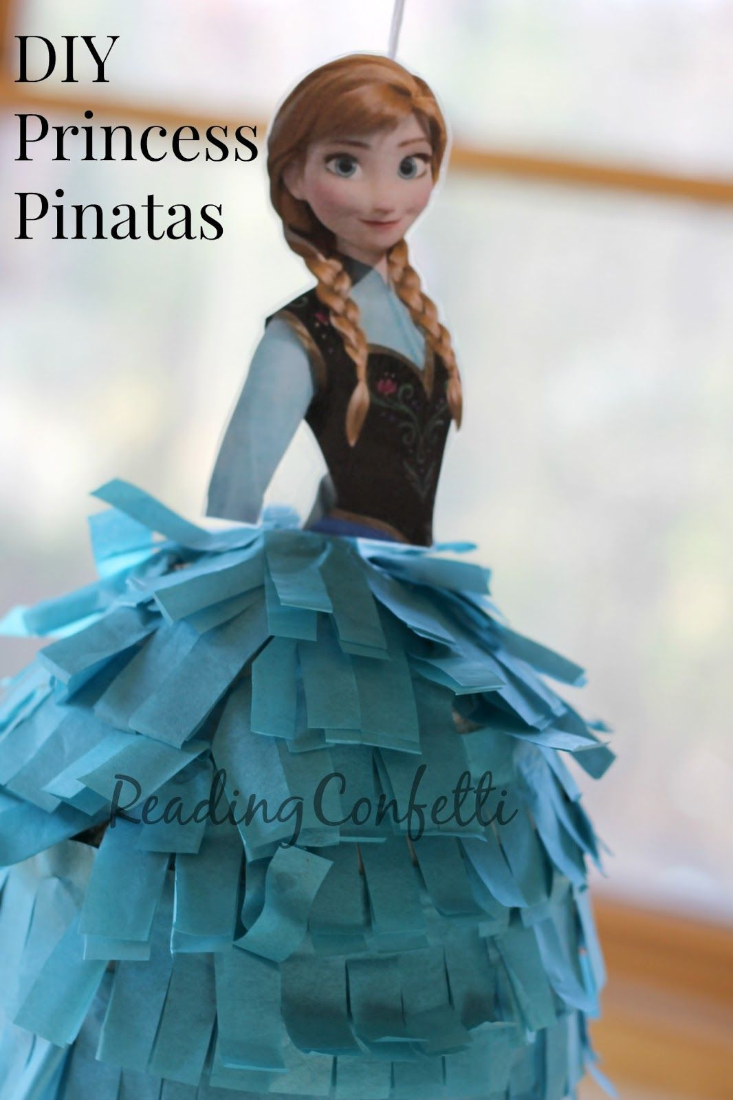 diy princess anna pinata title