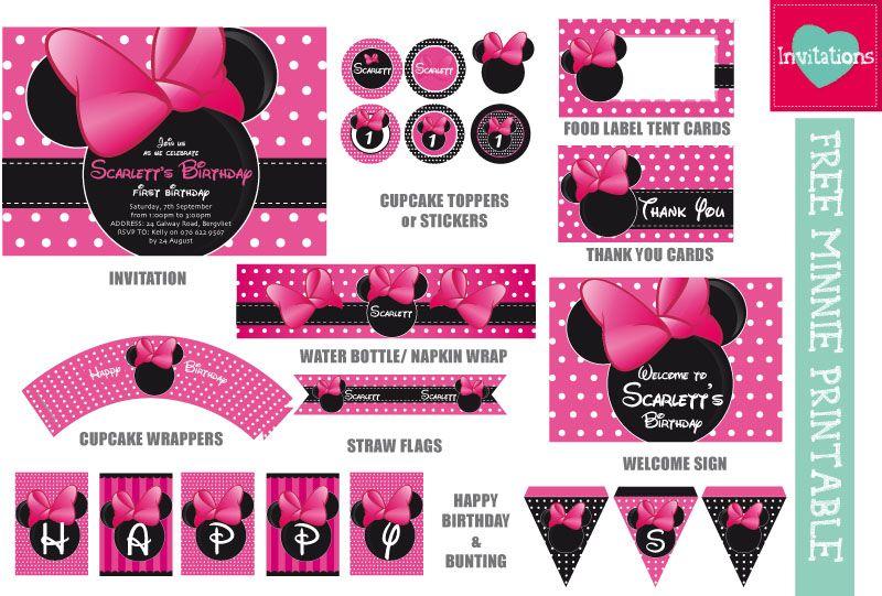 Minnie Mouse Guía Completa De Fiesta Luz Angela