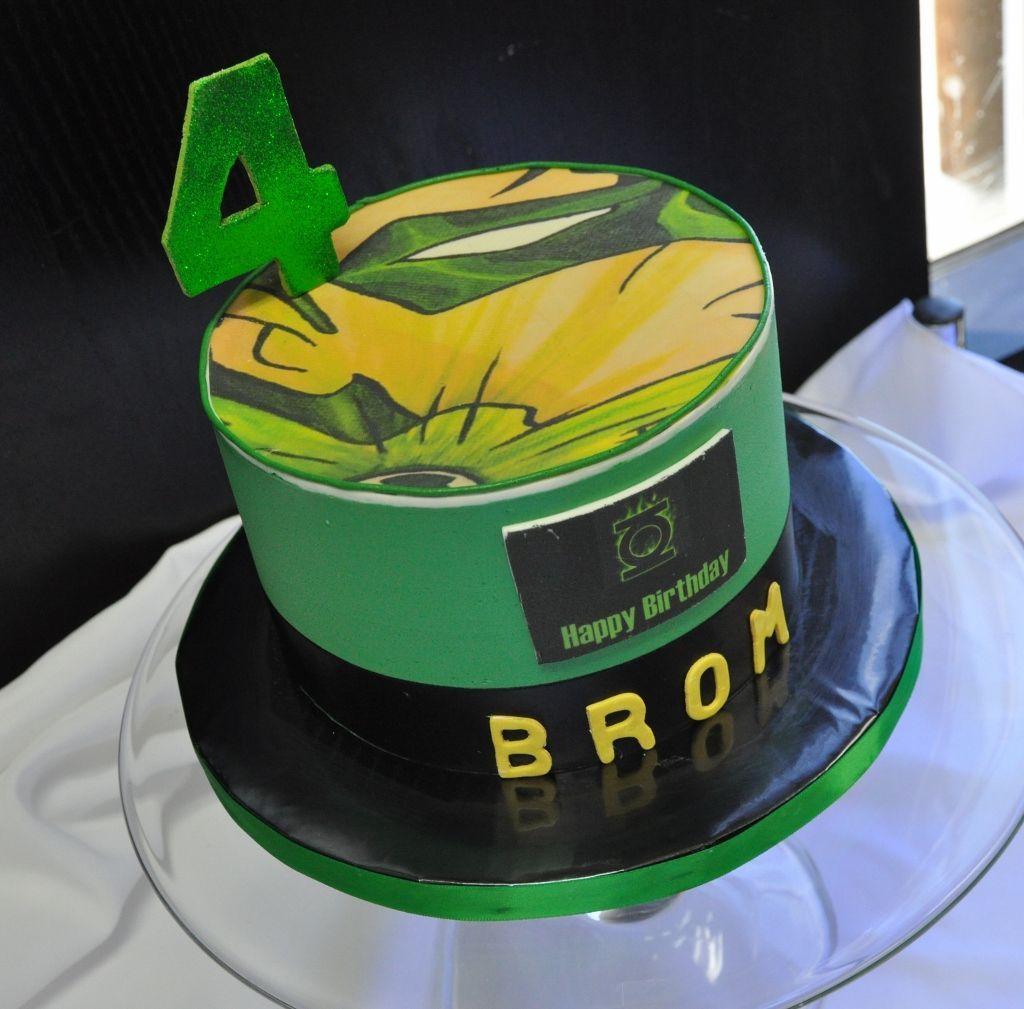 Brilliant Green Lantern Birthday Cake Ideas Luz Angela Funny Birthday Cards Online Amentibdeldamsfinfo