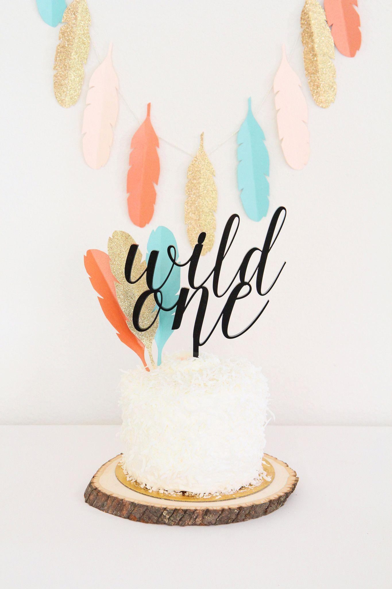 tribal-wild-one-custom-cake-topper-diy-feathers-first-birthday-party-gold-glitter-aqua-turquoise-blue-orange-peach-black-sweet-paper-shop_2048x2048