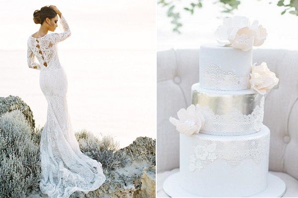 coastal-wedding-cake-with-lace-by-De-La-Rosa-Cupcakes-Inbal-Dror-gown-image-by-Feather-Stone-Photography.jpg