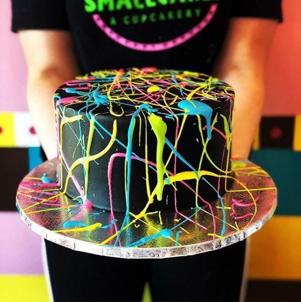 cake-art-trends-birthdays-weddings-paint-splatter-cakes
